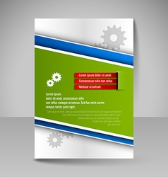 Template of flyer for business brochures vector image