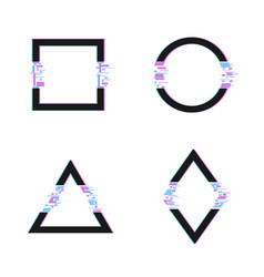 trendy glitched shapes vector image