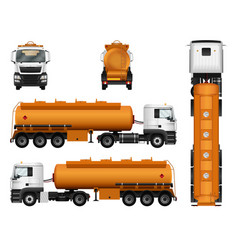 truck trailer template fuel gas tanker isolated vector image