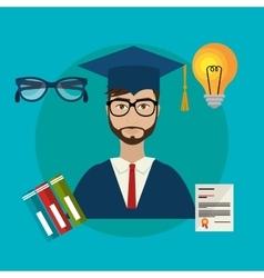 University students graduation vector