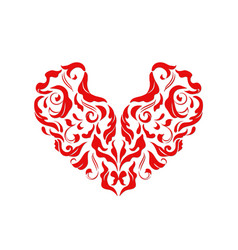 valentines day card with red heart vector image vector image