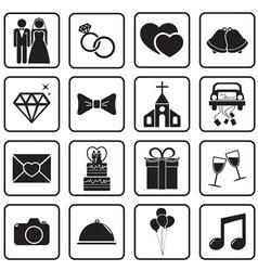 Wedding icon vector