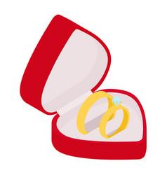 wedding ring engagement symbol gold jewellery vector image