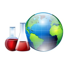 World and chemistry vector