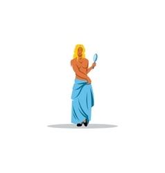 Aphrodite sign Mythological Greek Goddess of vector image