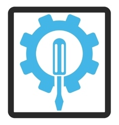 Engineering Framed Icon vector image