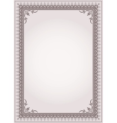 Decorative border frame background vector image vector image