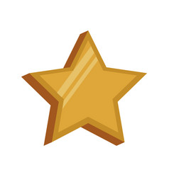 golden star decoration symbol image vector image