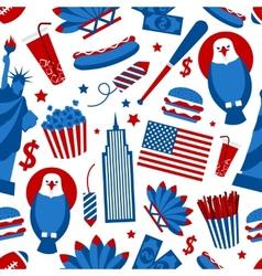 New York USA seamless pattern vector image