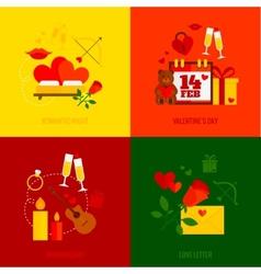 Romantic Design Concept vector image vector image