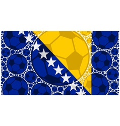 Bosnia and Herzegovina soccer balls vector image vector image