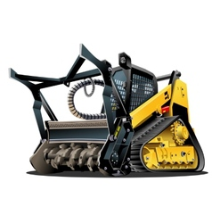 Cartoon Land Clearing Mulcher vector image vector image