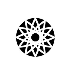 icon logo in the form of a circular abstract vector image