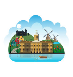 netherlands country design template vector image vector image