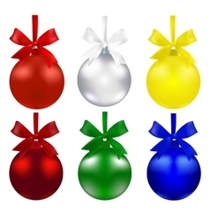 Set of balls Christmas decorations The symbols vector image