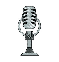 vintage microphone device vector image