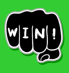 win hand vector image