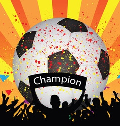 soccer celebration vector image
