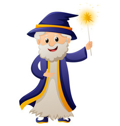 wizard in blue robe vector image vector image