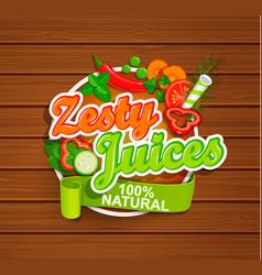 zesty juices symbol vector image vector image