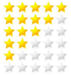 5 star rating system star rating with bright star vector