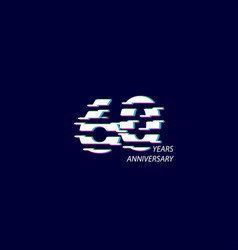 60 years anniversary celebration number template vector