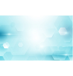 abstract blue hexagons technology concept vector image
