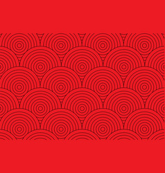 Abstract red circle pattern wallpaper background vector
