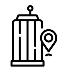 Accessible environment icon outline style vector