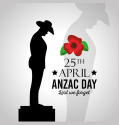 Anzac day lest we forget vector