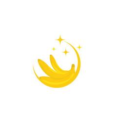 banana logo template icon design vector image