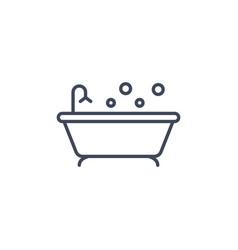 bath line icon clipart bathtube shower vector image