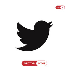 Bird icon twitter logo vector