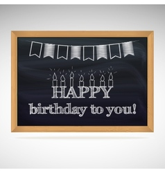 Birthday greetings on schoolboard vector
