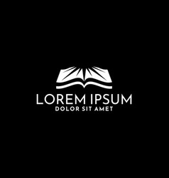 Book logo template with negative space sunlight vector