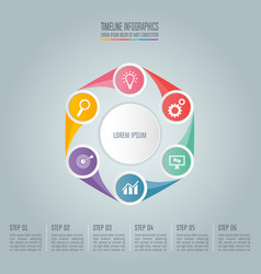 business concept with 6 options steps or vector image