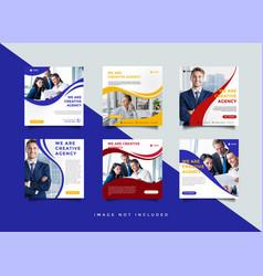 business social media post design template vector image