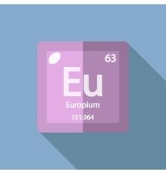 Chemical element Europium Flat vector image