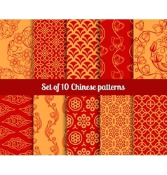 chinese seamless patterns vector image