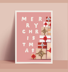 christmas poster or card design template with a vector image