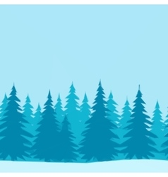 Christmas Trees Low Poly vector