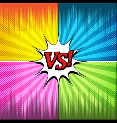Comic duel and fight template vector