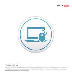 computer icon - white circle button vector image