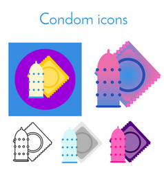 condom icon linear flat gradient and different vector image
