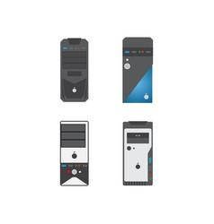 cpu case graphic design template vector image