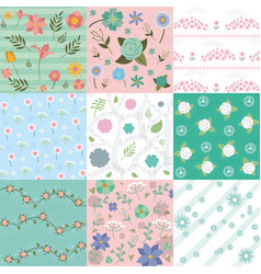 cute patterns backgrounds vector image