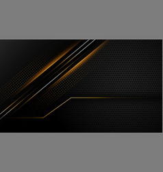 Dark black background with glowing lines design vector