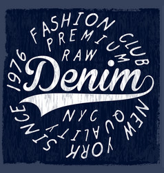 Denim originals t-shirt design poster vector