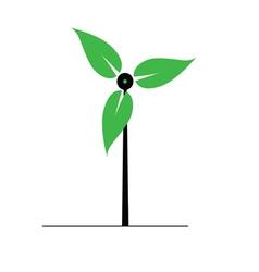 Eco windmill icon vector