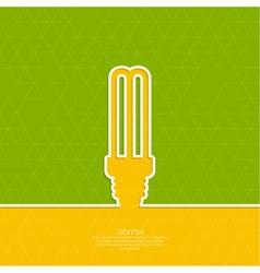 Energy saving lamp vector